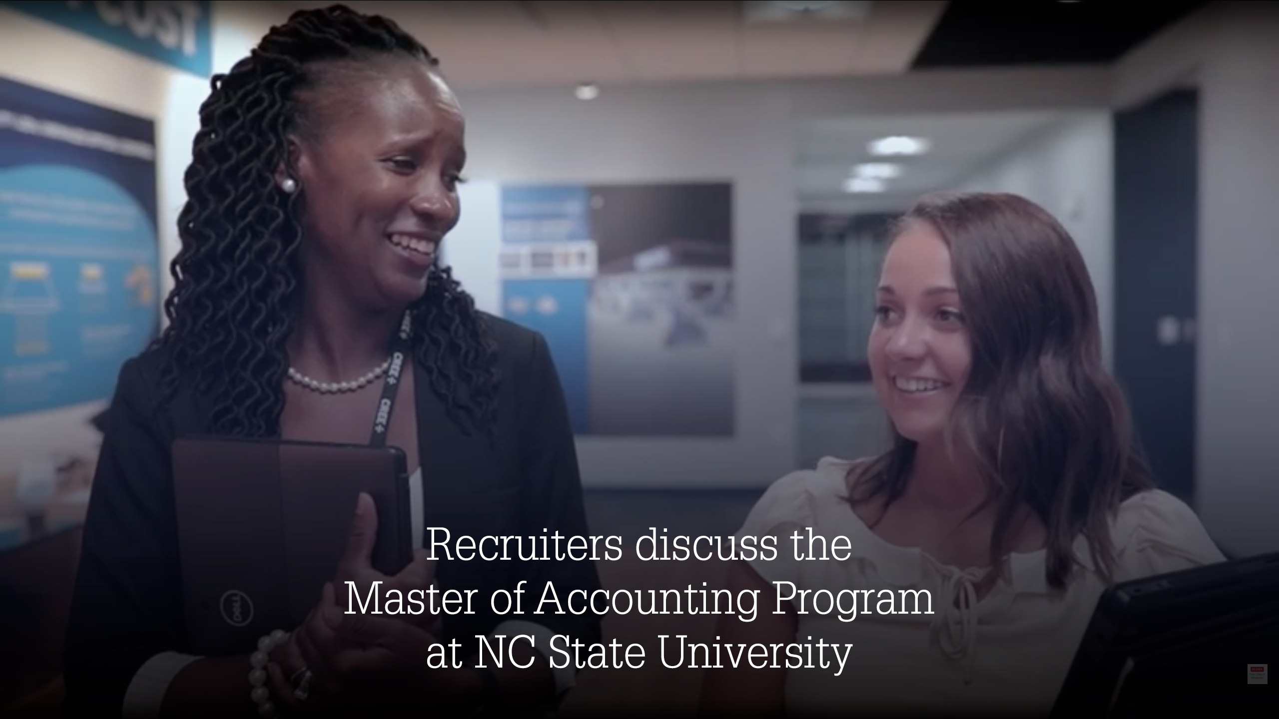 Cover image for Recruiters discuss the Master of Accounting Program, NCState University Youtube video